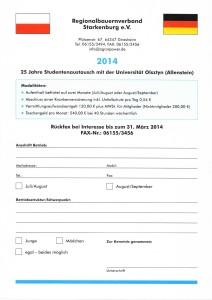 Studentenaustausch Allenstein 2014-1
