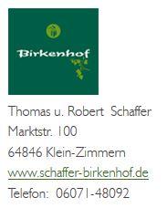 Logo Birkenhof, Schaffer GbR
