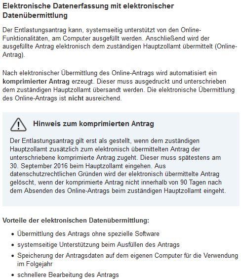 hinweis Online