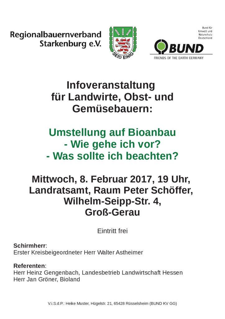 """""""Umstellung auf Bioanbau"""" Infoveranstaltung"""