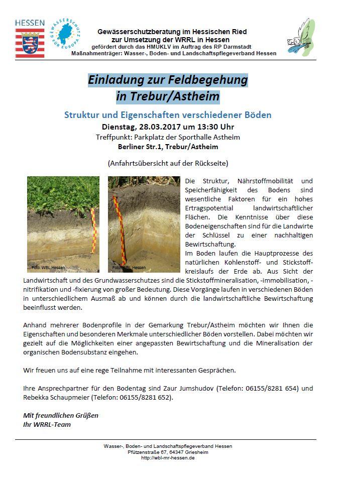 WRRL - Feldbegehung in Trebur/Astheim