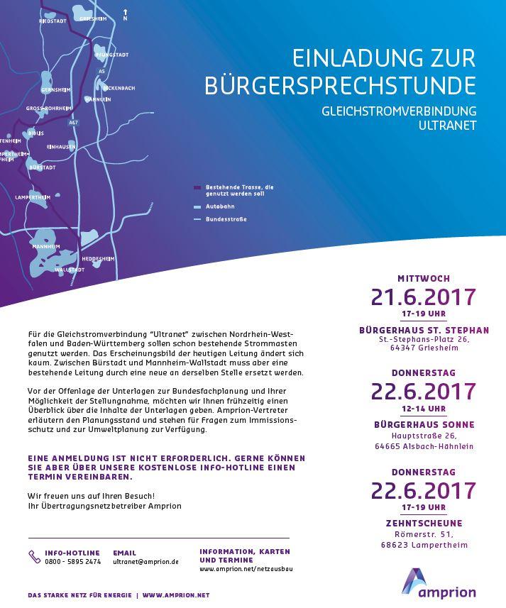 Amprion lädt zu Bürgersprechstunden in Südhessen