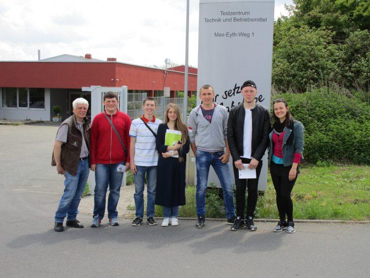 Ukrainische Studenten zu Besuch im DLG Testzentrum