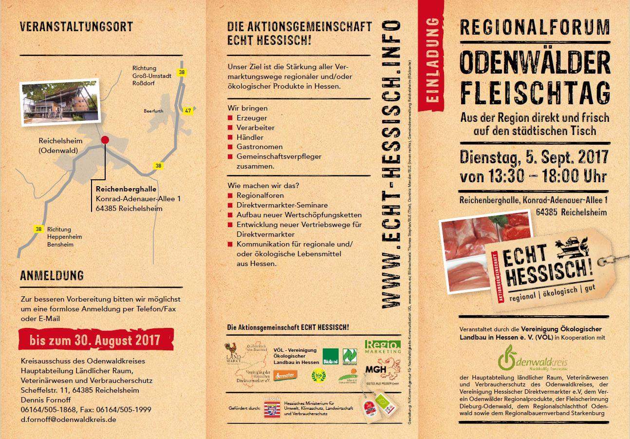 Regionalformum Odenwälder Fleischtag