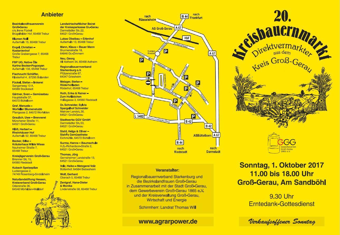 20. Kreisbauernmarkt Groß-Gerau