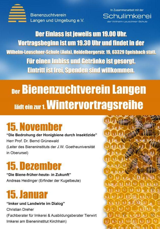 Wintervortragsreihe des Bienenzuchtvereins Langen