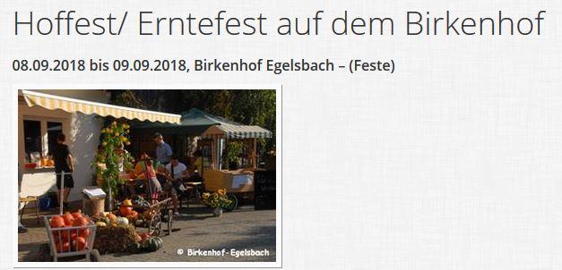 Tag des offenen Hofes - Egelsbach, Betrieb Arno Eckert