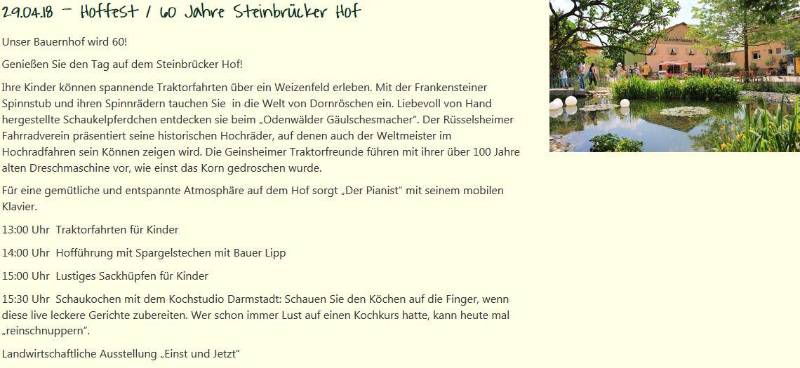Tag des offenen Hofes-Weiterstadt, Betrieb Lipp