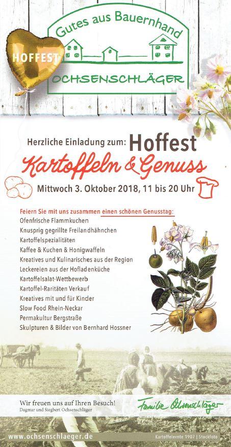 """Hoffest """"Kartoffel und Genuss"""""""