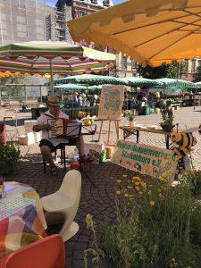 """""""Starkenburg blüht"""" - Gemeinsamer Aktionsstand auf dem Darmstädter Marktplatz"""