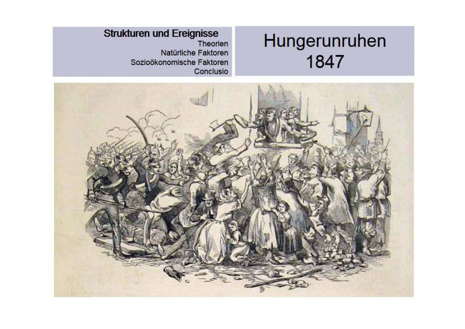 Die Hungerkatastrophe 1846 in Irland: some fact sheets!